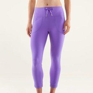 Lululemon Power Purple Skinny Will Crops Sz 8